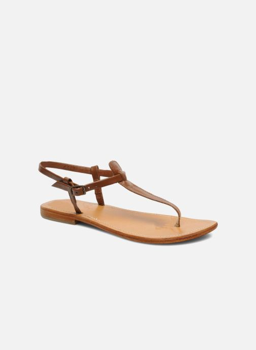 Sandales et nu-pieds Les Tropéziennes par M Belarbi Narvil Marron vue détail/paire