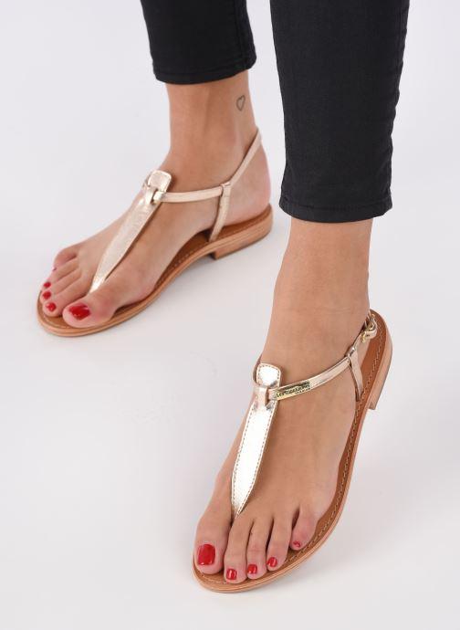 Sandales et nu-pieds Les Tropéziennes par M Belarbi Narvil Or et bronze vue bas / vue portée sac