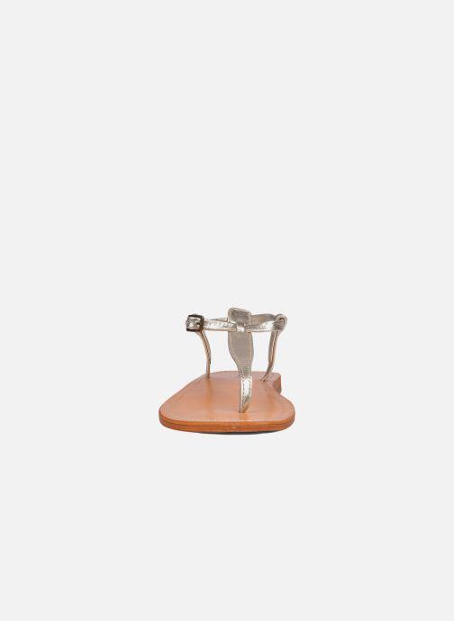 Sandales et nu-pieds Les Tropéziennes par M Belarbi Narvil Or et bronze vue portées chaussures