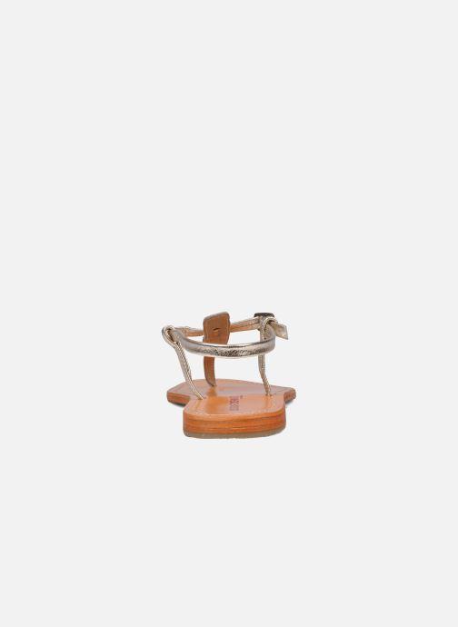 Sandales et nu-pieds Les Tropéziennes par M Belarbi Narvil Or et bronze vue droite