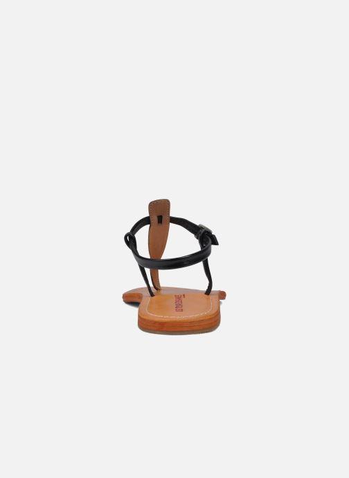 Sandalias Les Tropéziennes par M Belarbi Narvil Negro vista lateral derecha