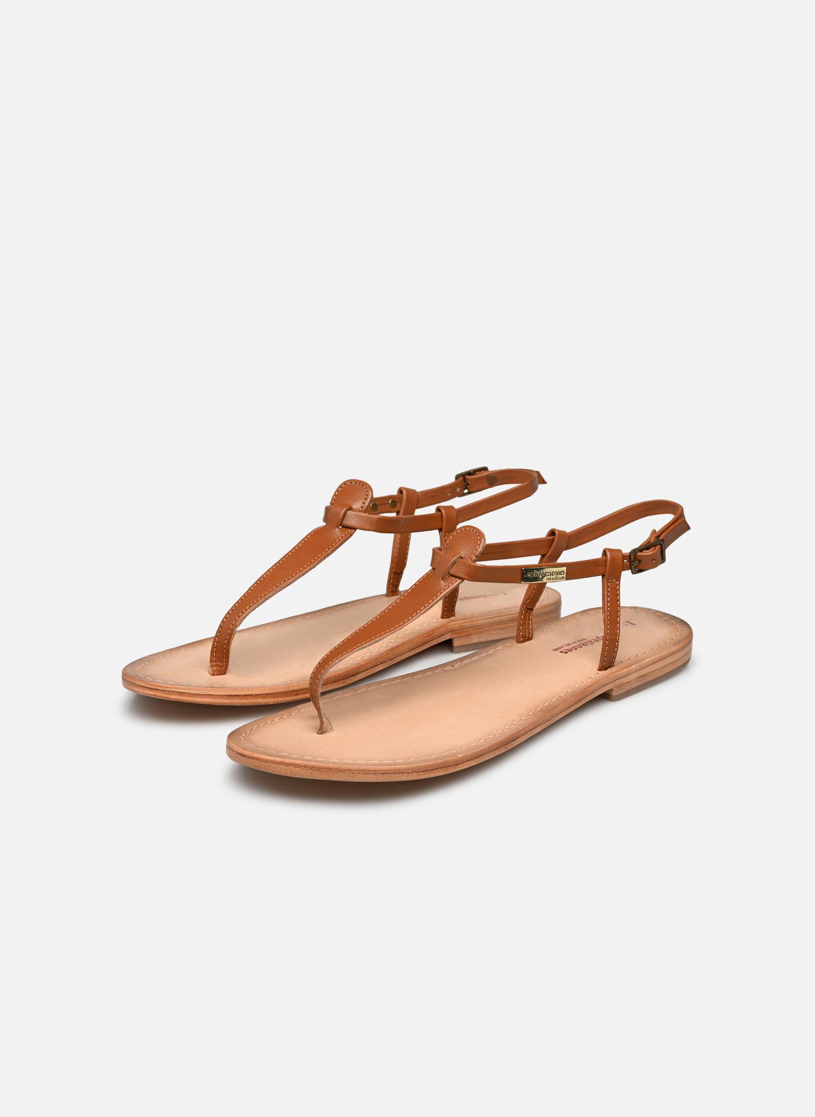 Sandales et nu-pieds Les Tropéziennes par M Belarbi Narvil Marron vue bas / vue portée sac
