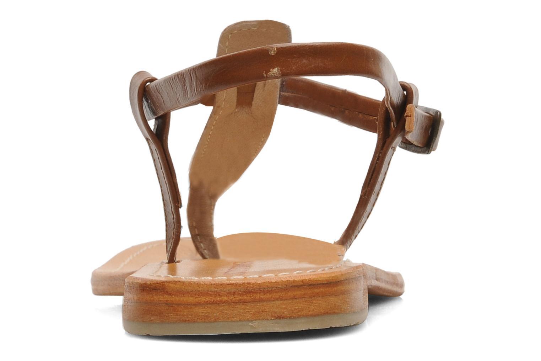 Sandales et nu-pieds Les Tropéziennes par M Belarbi Narvil Marron vue droite
