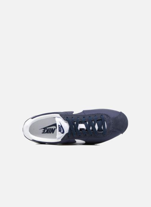 Deportivas Nike Wmns Classic Cortez Nylon Azul vista lateral izquierda