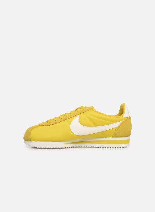 Sneakers Nike Wmns Classic Cortez Nylon Geel voorkant