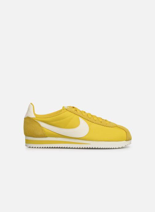 Sneaker Nike Wmns Classic Cortez Nylon gelb ansicht von hinten