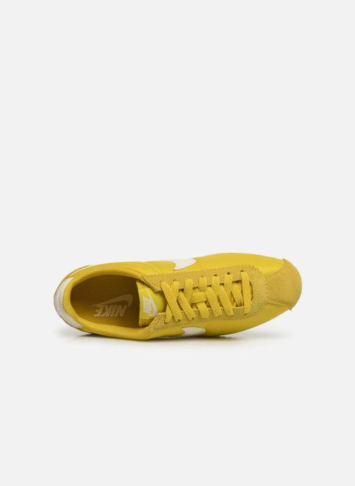 Sneaker Nike Wmns Classic Cortez Nylon gelb ansicht von links