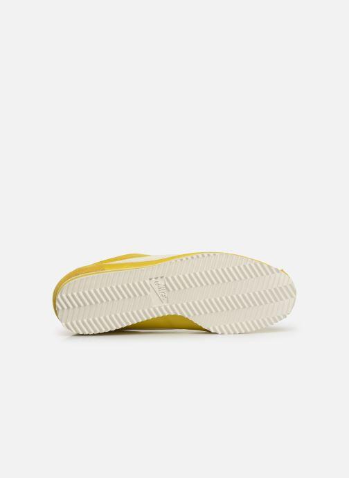 Sneaker Nike Wmns Classic Cortez Nylon gelb ansicht von oben