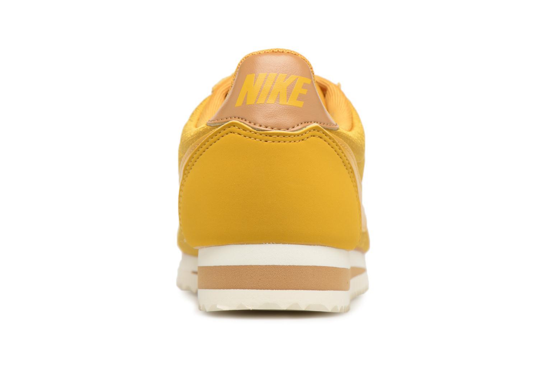 Baskets Nike Wmns Classic Cortez Nylon Jaune vue droite