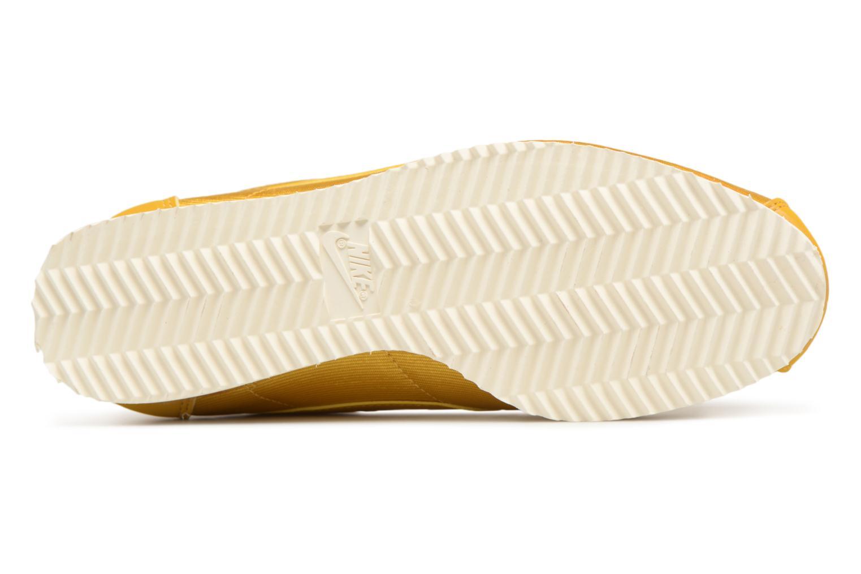 Baskets Nike Wmns Classic Cortez Nylon Jaune vue haut