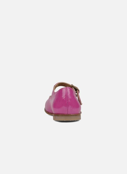 Ballet pumps PèPè Palombra Pink view from the right