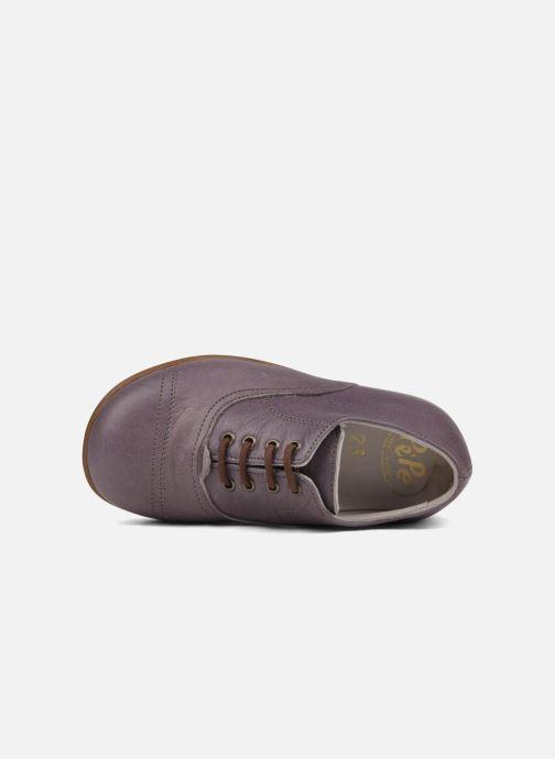 Chaussures à lacets PèPè Coma Violet vue gauche