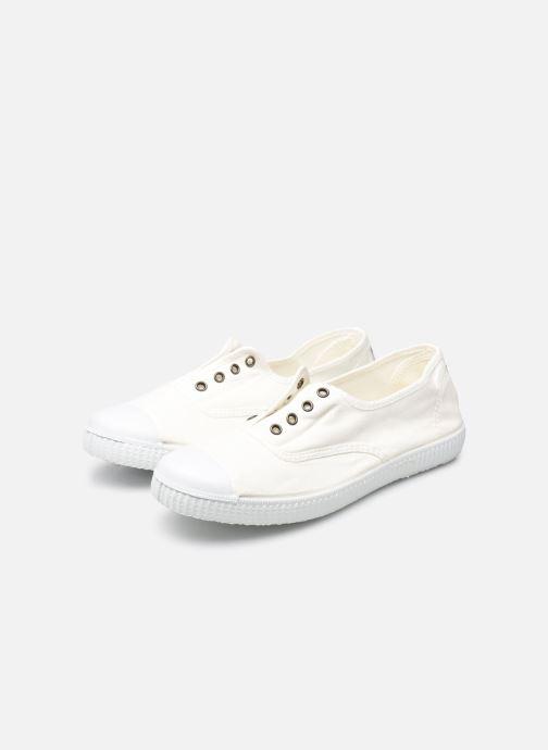 Sneaker Victoria Victoria Elastique W weiß ansicht von unten / tasche getragen