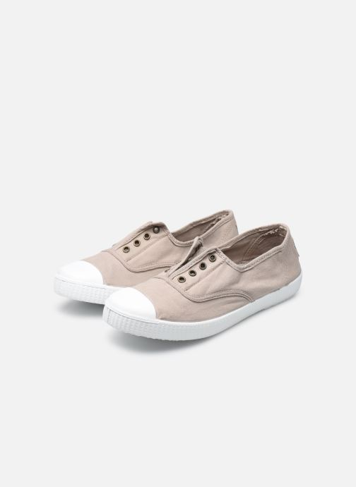 Trainers Victoria Victoria Elastique W Beige view from underneath / model view