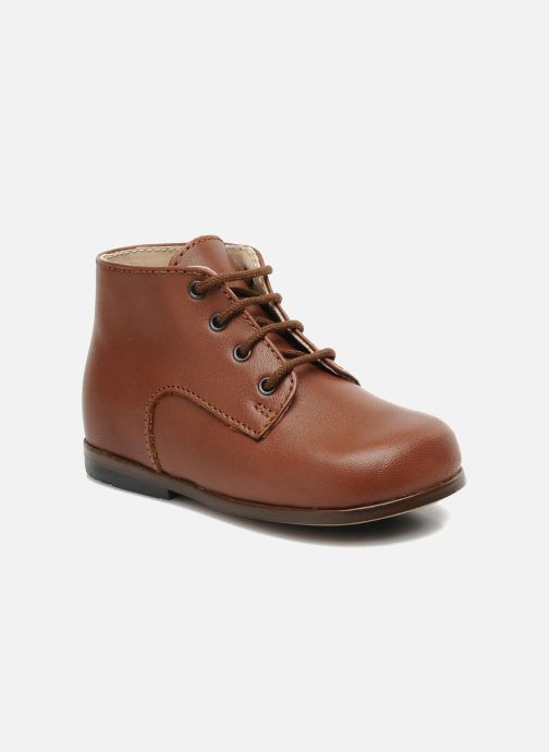 Ankle boots Little Mary Miloto Brown detailed view/ Pair view
