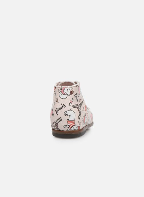 Botines  Little Mary Miloto Rosa vista lateral derecha