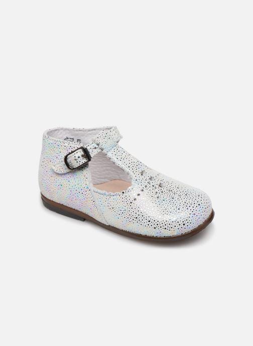 Ankelstøvler Little Mary Floriane Hvid detaljeret billede af skoene