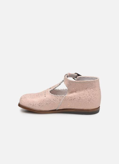 Botines  Little Mary Floriane Beige vista de frente