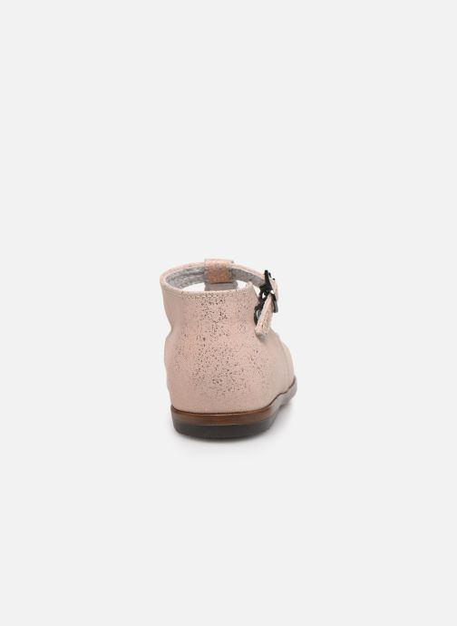 Botines  Little Mary Floriane Beige vista lateral derecha