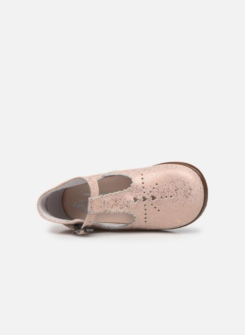 Botines  Little Mary Floriane Beige vista lateral izquierda