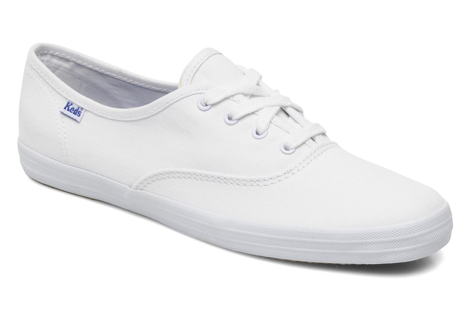 Baskets Keds Champion Canvas Blanc vue détail/paire