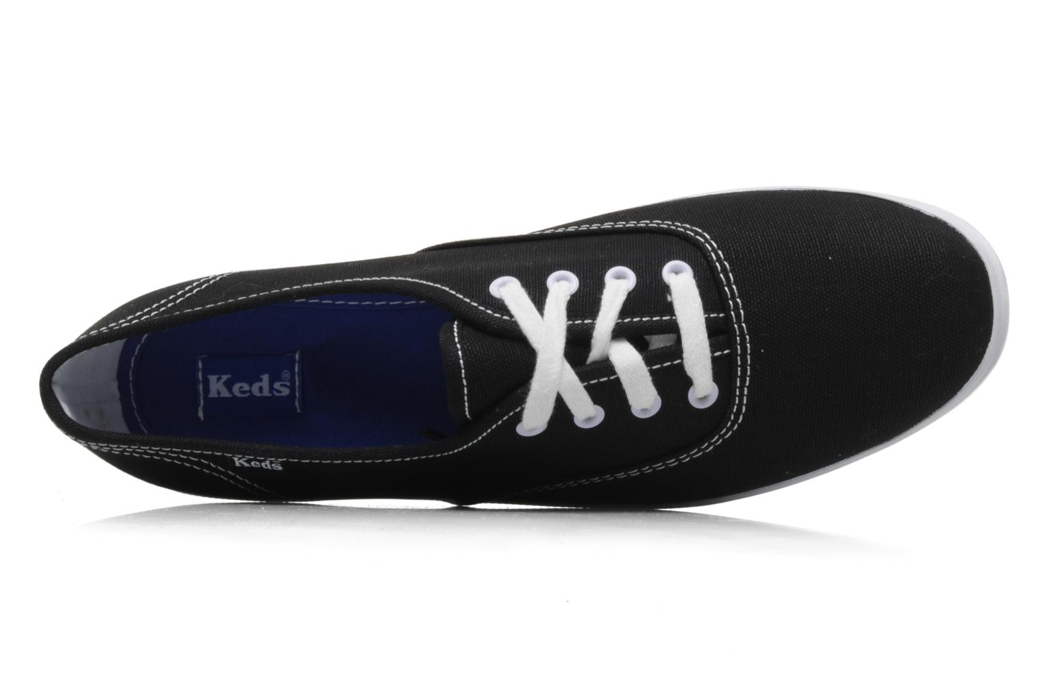 Baskets Keds Champion Canvas Noir vue gauche