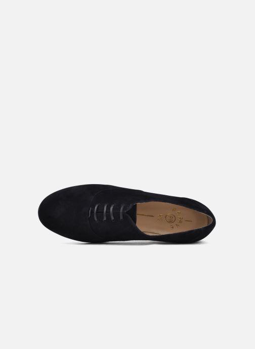 Chaussures à lacets Planisphere Nelly papaye Bleu vue gauche