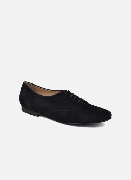 Chaussures à lacets Planisphere Nelly papaye Bleu vue détail/paire