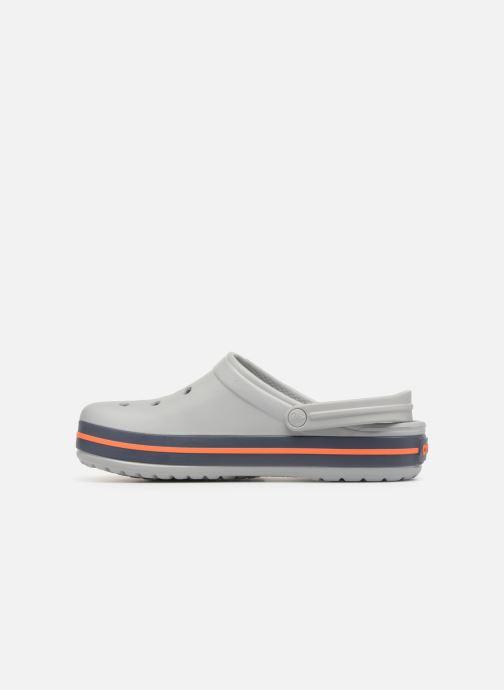 Sandales et nu-pieds Crocs Crocband M Gris vue face