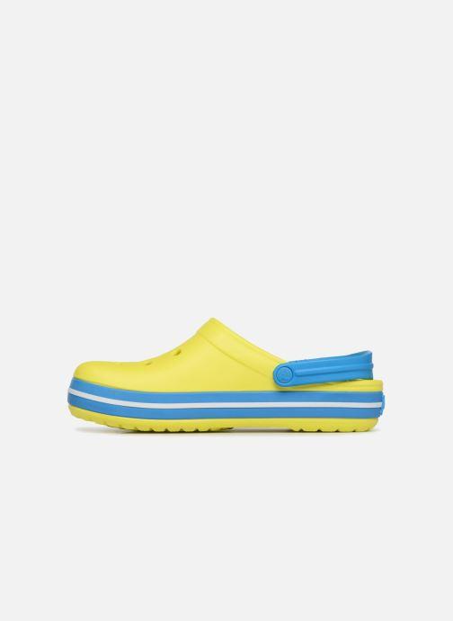 Sandales et nu-pieds Crocs Crocband M Jaune vue face