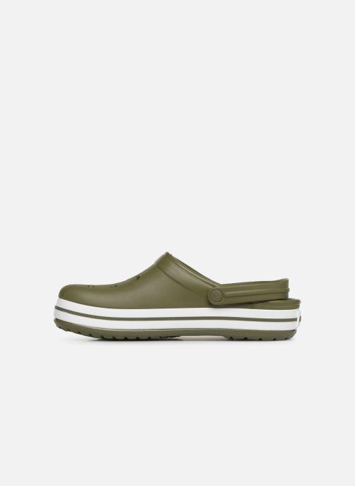 Sandalias Crocs Crocband M Verde vista de frente