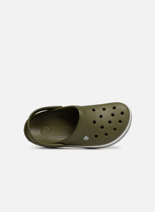 Sandalias Crocs Crocband M Verde vista lateral izquierda
