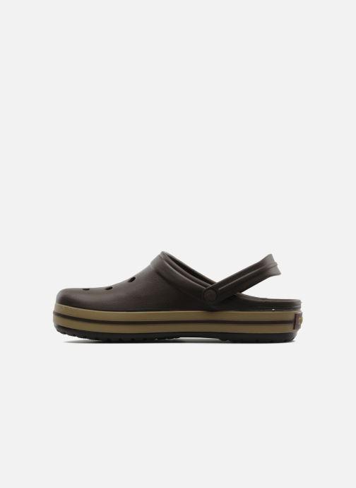 Sandales et nu-pieds Crocs Crocband M Marron vue face