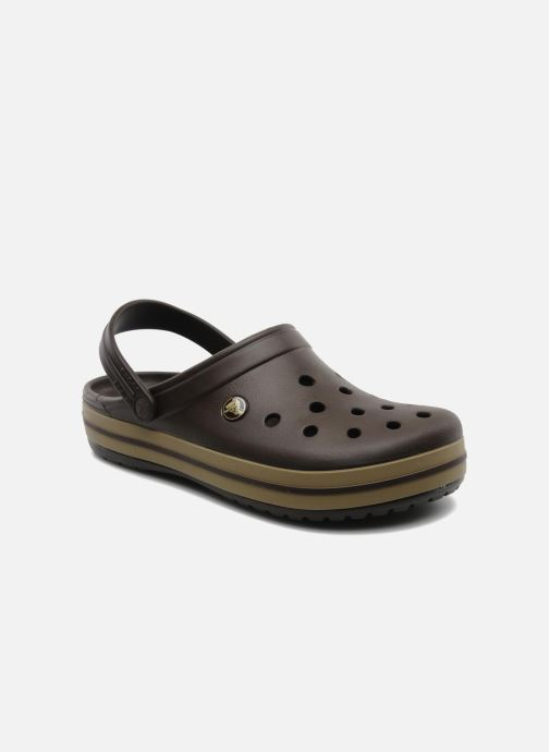 Sandals Crocs Crocband M Brown detailed view/ Pair view