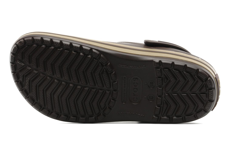 Sandalias Crocs Crocband M Marrón vista de arriba