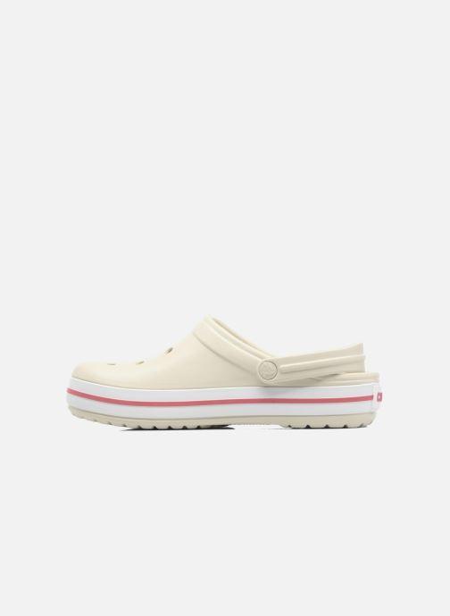 Clogs & Pantoletten Crocs Crocband W beige ansicht von vorne