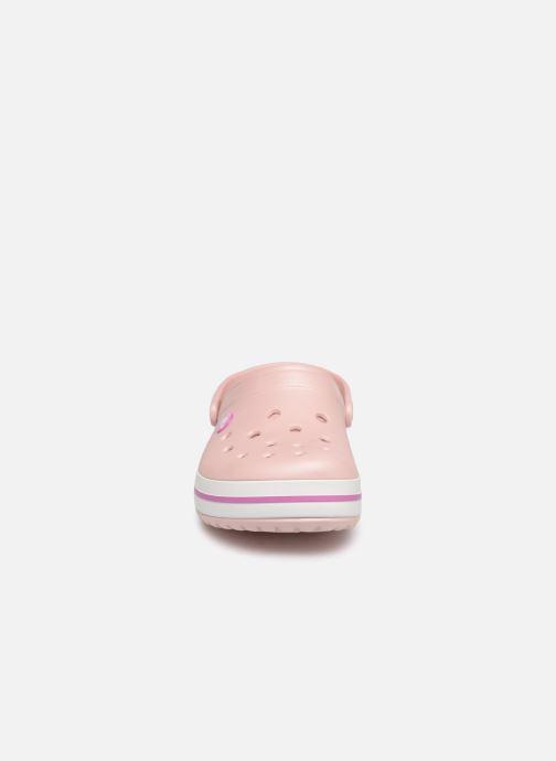 Zoccoli Crocs Crocband W Rosa modello indossato