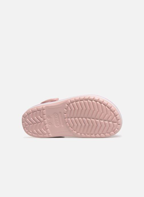 Zuecos Crocs Crocband W Rosa vista de arriba
