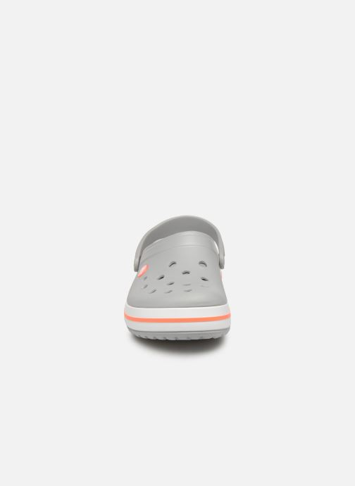 Clogs & Pantoletten Crocs Crocband W grau schuhe getragen