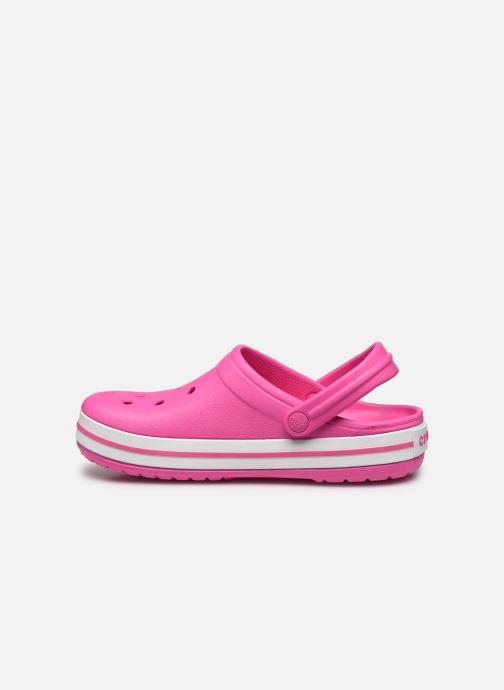Clogs & Pantoletten Crocs Crocband W rosa ansicht von vorne