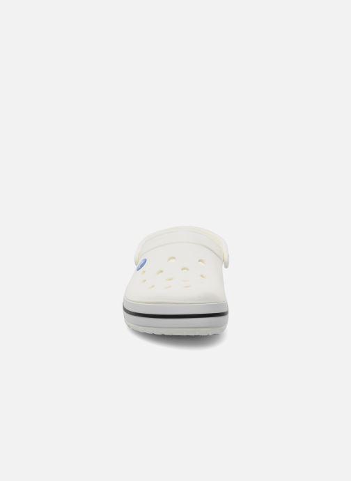 Clogs & Pantoletten Crocs Crocband W weiß schuhe getragen