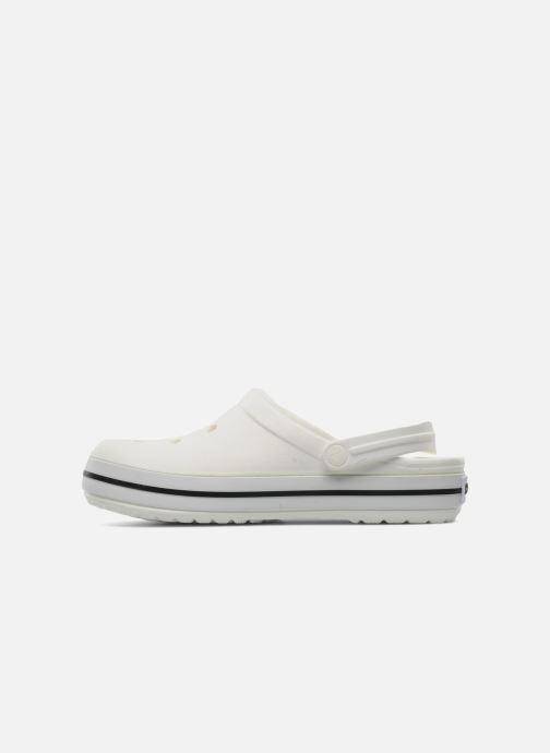 Clogs & Pantoletten Crocs Crocband W weiß ansicht von vorne