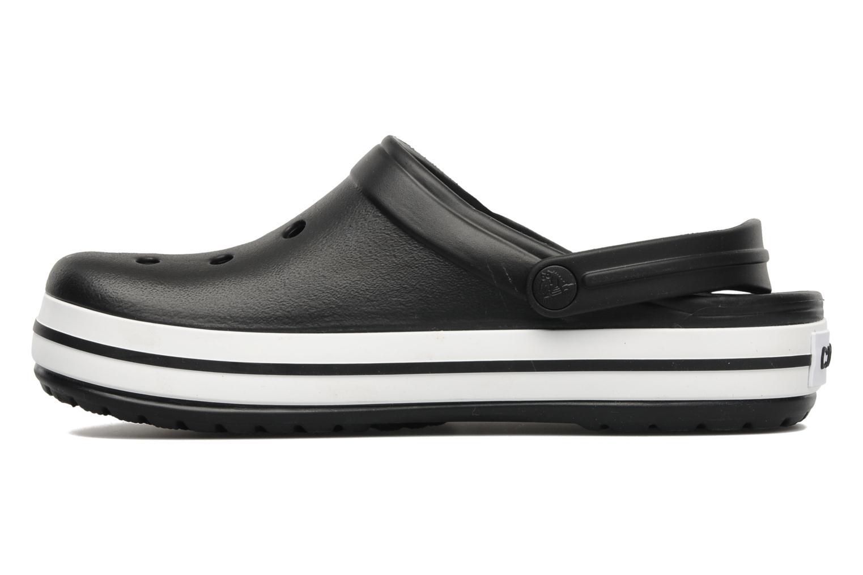 Zuecos Crocs Crocband W Negro vista de frente