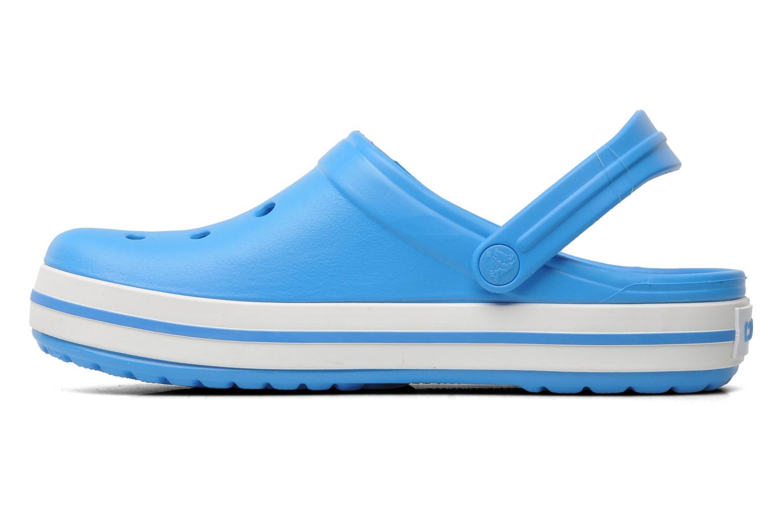 Zuecos Crocs Crocband W Azul vista de frente
