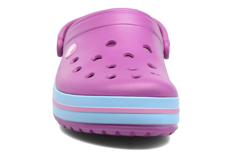Mules et sabots Crocs Crocband W Violet vue portées chaussures