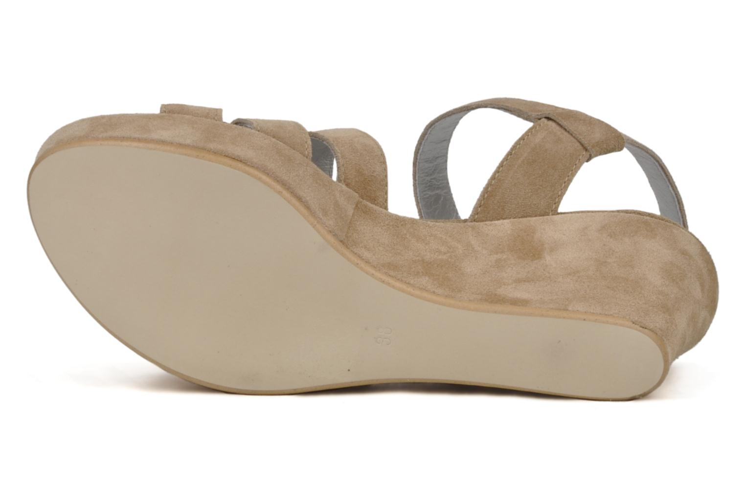 Sandals Planisphere Zoom Beige view from above