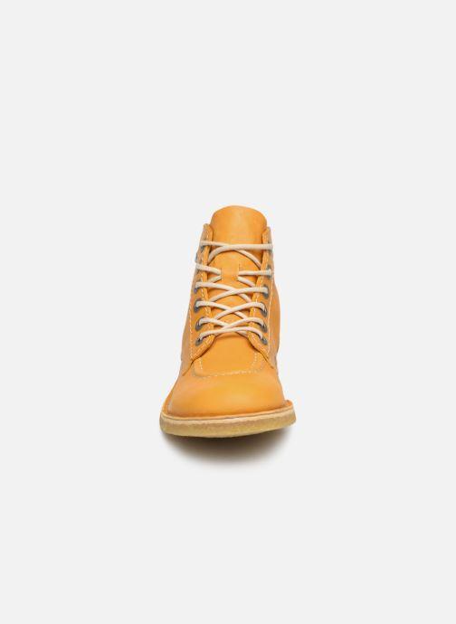 Schnürschuhe Kickers Kick Legend gelb schuhe getragen