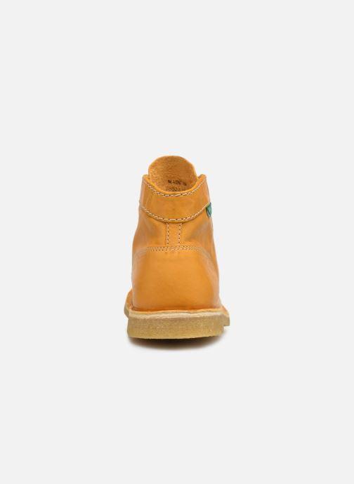 Chaussures à lacets Kickers Kick Legend Jaune vue droite
