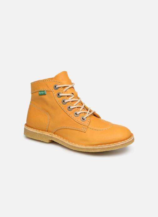 Chaussures à lacets Kickers Kick Legend Jaune vue détail/paire