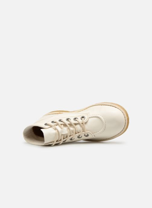 Zapatos con cordones Kickers Kick Legend Blanco vista lateral izquierda